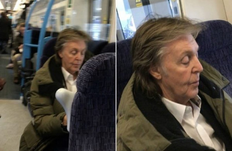 Ticket to ride: Paul McCartney anda de trem na segunda classe
