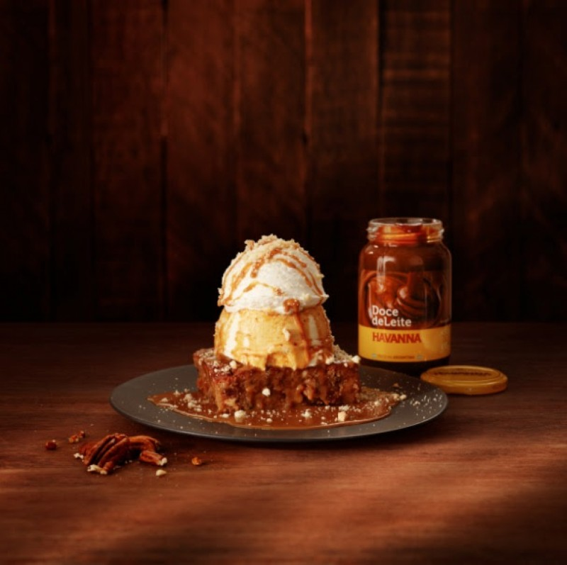 Outback Steakhouse lança brownie com doce de leite Havanna