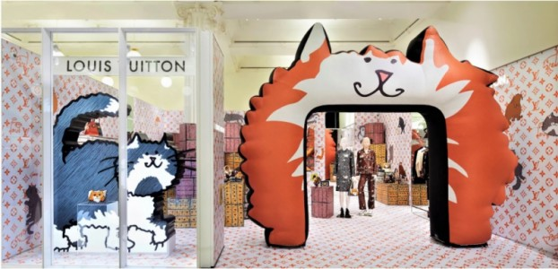 Gatos x cães: Louis Vuitton abre pop-up para Grace Coddington