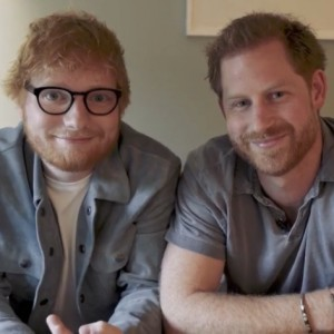 Gingers unite! Boa causa une Príncipe Harry e Ed Sheeran em vídeo